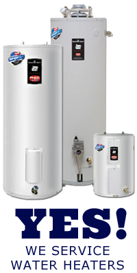 Yes! We service water heaters